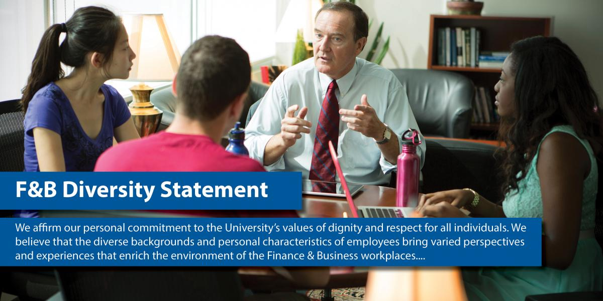 We affirm our personal commitment to the University's values of dignity and respect for all individuals. We believe that the div
